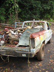 Day9_Maui_Road_to_Hana (Amudha Irudayam) Tags: beach truck hawaii garbage maui hana amudha