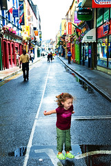there was to be much puddle jumping in cork (sesame ellis) Tags: ireland girl puddle kid jumping toddler child cork mykid ppg year3 crocs ppm racheldevine wwwracheldevinecom