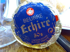 Mmmmmmm, butter... (sf2london) Tags: blue food design cafe louvre butter type packaging laiterie marly beurre costes aoc deuxsevres echiré
