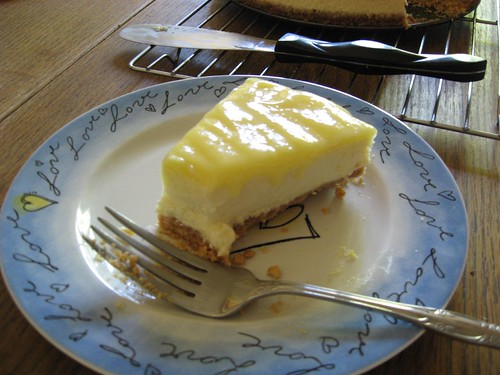 Goat Cheese and Lemon Cheesecake with Hazelnut Crust