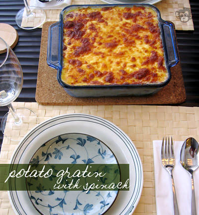 Potato & Spinach Gratin