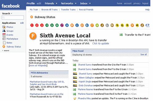 Facebook F Train Graphic