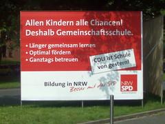 Plakat: Allen Kindern alle Chancen! Deshalb Gemeinschaftsschule.