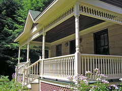 Classic Summertime Porch (CountryDreaming) Tags: flowers trees houses windows ohio summer house stairs steps porch summertime porches blueribbonwinner mywinners anawesomeshot favoritegarden flickrelite