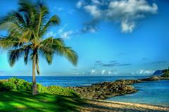 Our New Spot (harogi) Tags: sky usa beach clouds hawaii rocks waves pointandshoot hdr orton koolina koolinalagoon kapolei nikoncoolpix5200 diamondclassphotographer koolinalagoon2 leewardshores