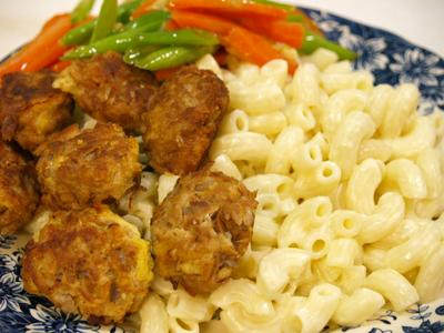 Tuna Balls and Macaroni Cheese
