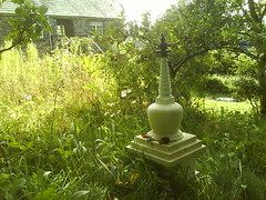 Vajracitta's stupa in the garden 4