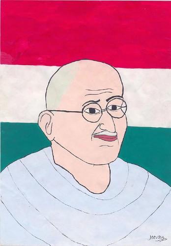 Gandhi by Jeevan