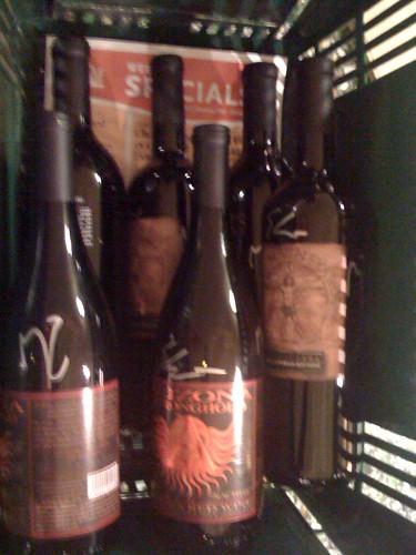 signed bottles