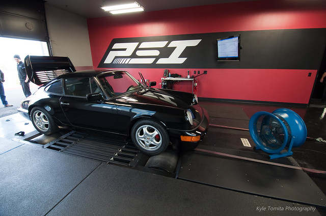 1981 Porsche 911 on dyno at PSI