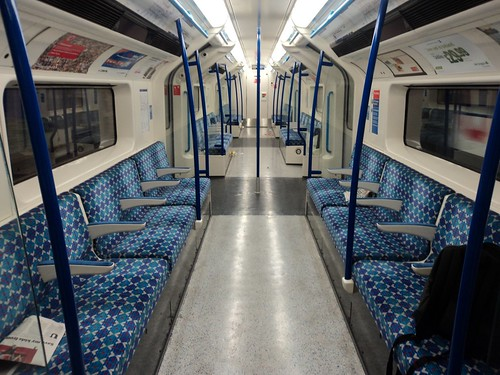 Momentarily alone (again) on the Victoria line by red_rooster82, on Flickr
