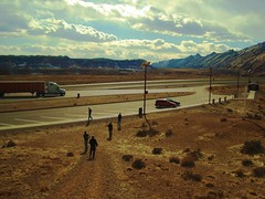 Desert and Mountains (Paulo_T) Tags: utah desert i70 flickrchallengegroup