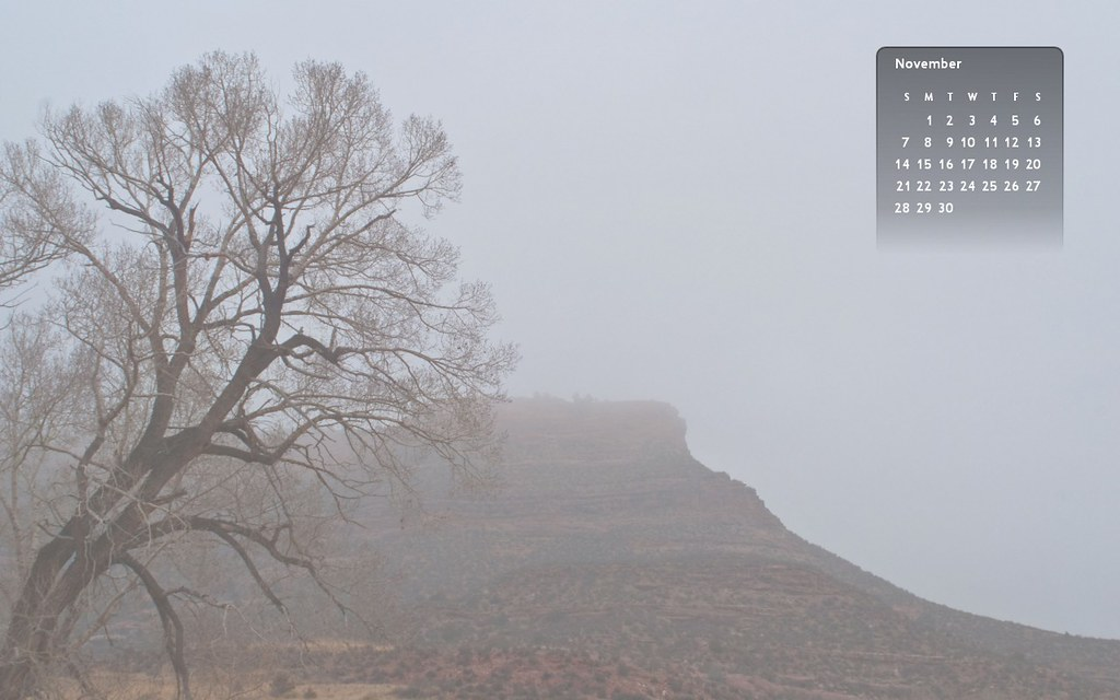 11-10 Fog on Mesa Wallpaper
