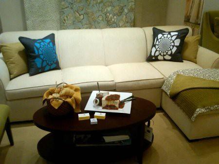 AphroChic Pillows @ Duralee Showroom reception