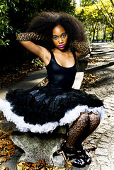 Saphire_0040 (Will Vaultz) Tags: park newyork fall fashion bench model dress young makeup cobblestone editorial leopardprint superstar tutu grantstomb
