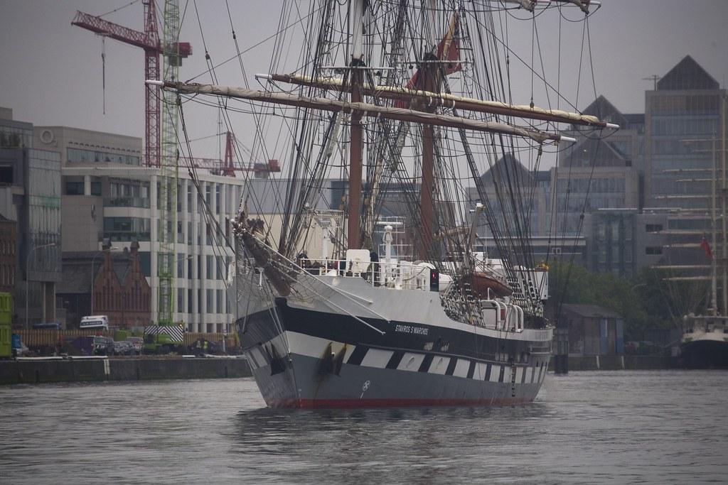 TALL SHIP LEAVING DUBLIN