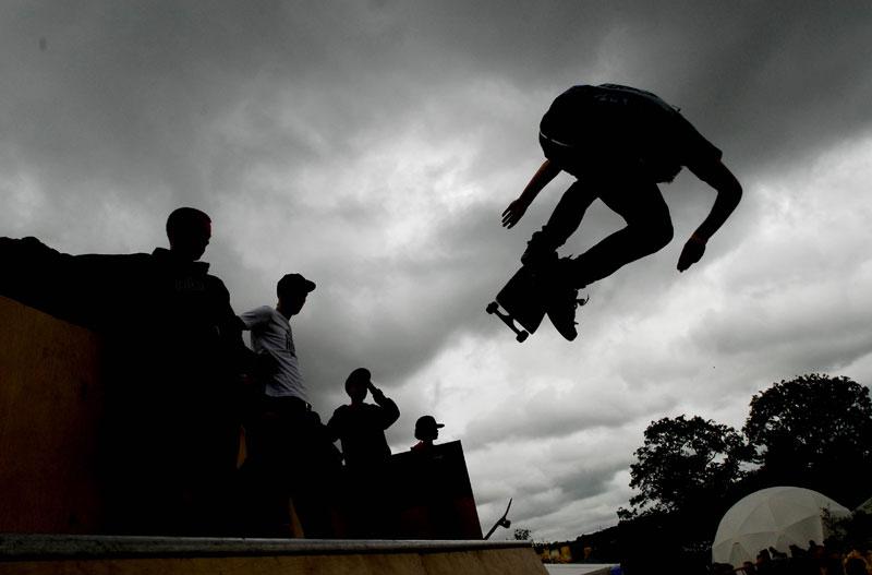 Skating high