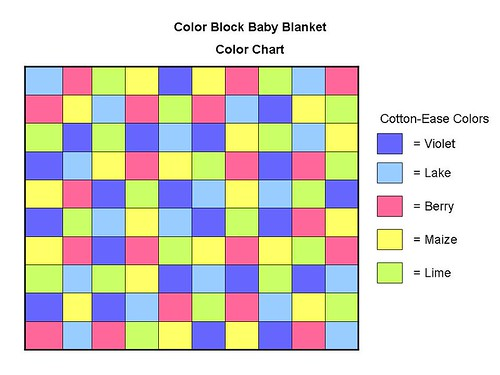 Color Block Baby Blanket: Color Chart