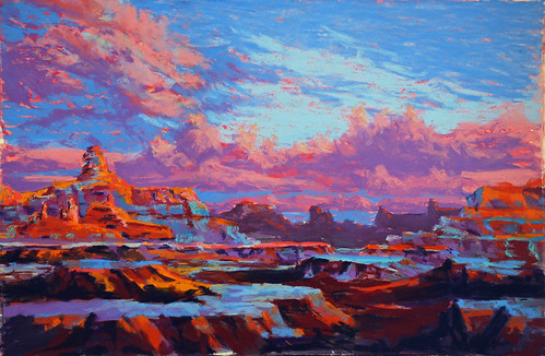 Here I Am Exploring The Use Of Layering Color In Sky And Background Paintings Adore This Process Generally A Cool Is Placed First If