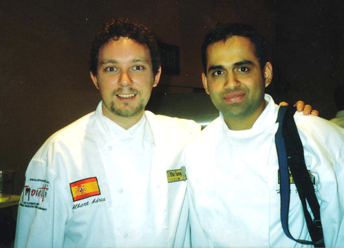 Hari nayak Hari Nayak with Albert Adria of El buli