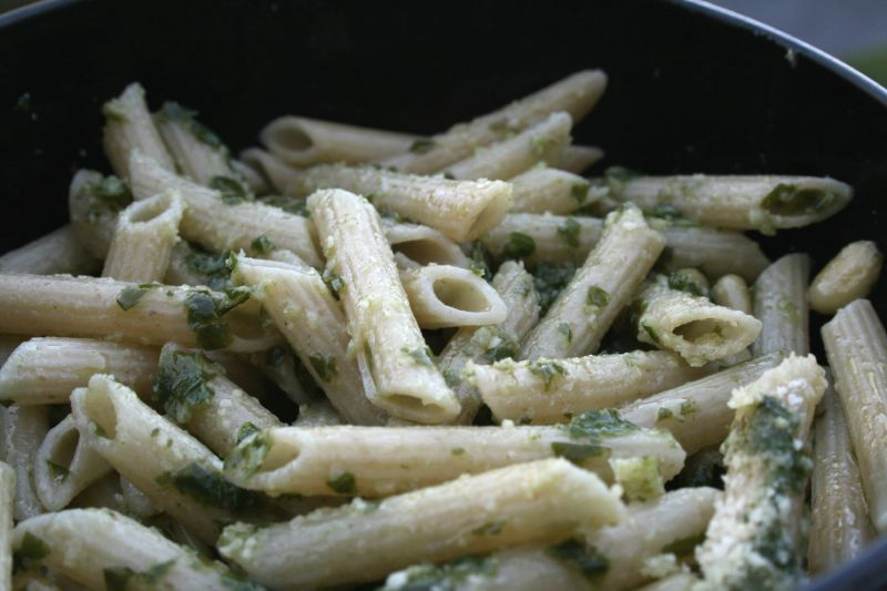 Whole Wheat Pasta with Pesto