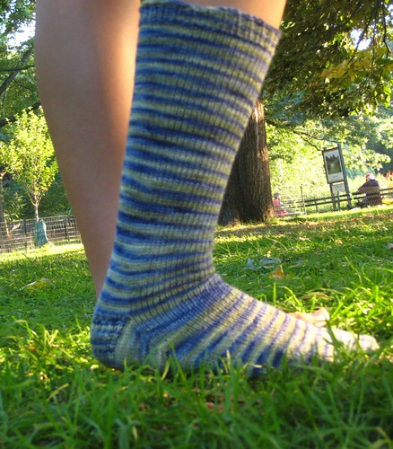 single sock with sunset