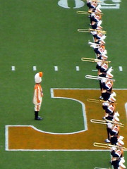 At attention (pictir) Tags: football ut knoxville stadium tennessee marchingband pregame trombones drummajor powert neyland 50yardline prideofthesouthland