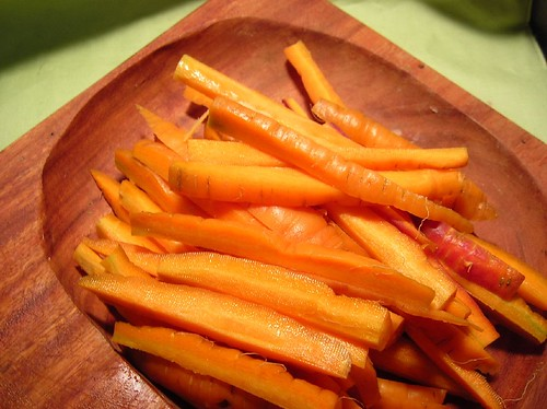 Carrots Cut into Fry Size