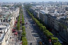 high-end French real estate flooding the market - Paris View of Avenue des Champs-Élysées