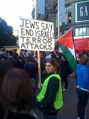 Manifestacion de judios contra la politica de Israel