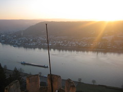 Sunset on the Rhine. (chasing_travel) Tags: germany rhineriver