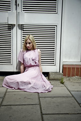 Maria: Grit and Glam Sixteen (Maryam Photography) Tags: london fashion grit glamour alley dress maria dresses parasol blonde eastlondon nikond90
