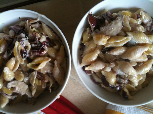 Conchiglie al Forno with Mushrooms and Radicchio