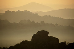 Hampi, Karnataka (India) - Morning on Matunga hill (streetcorner) Tags: morning india mist mountain rock landscape dawn dusk hill karnataka hampi inde matunga anawesomeshot earthasia