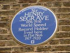 Photo of Henry Segrave blue plaque