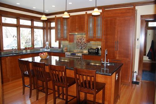A custom kitchen