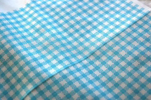 Gingham Blue quilters cotton