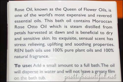 Instructions to use REN Moroccan Rose Otto Bath Oil