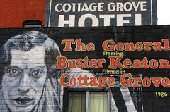 (Fire Monkey Fish) Tags: oregon movie hotel mural paint silent general 1926 busterkeaton cottagegrove