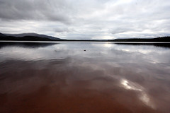 Loch Morlich (DebbieVC) Tags: light reflection water landscape scotland view loch cairngorms morlich blueribbonwinner