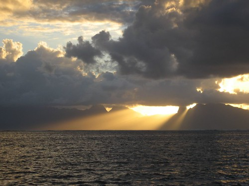Moorea sunset from Tahiti