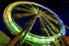 Like a Spinning Wheel (Toni Blay) Tags: longexposure valencia wheel night speed spain colours feria fair spinning themepark turning canon30d instantfave challengeyouwinner abigfave