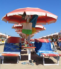 Ombrelloni (Sigmah) Tags: blue sea sky beach umbrella mare blu rimini cielo spiaggia sabbia sdraio ombrellone