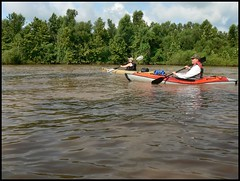 Dianne and Greg Paddling the North Canadian River from Pierce to Lake Eufaula