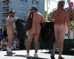 Cracks exposed (jelee_unleashed) Tags: gay male festival nude parade butts vancouverpride