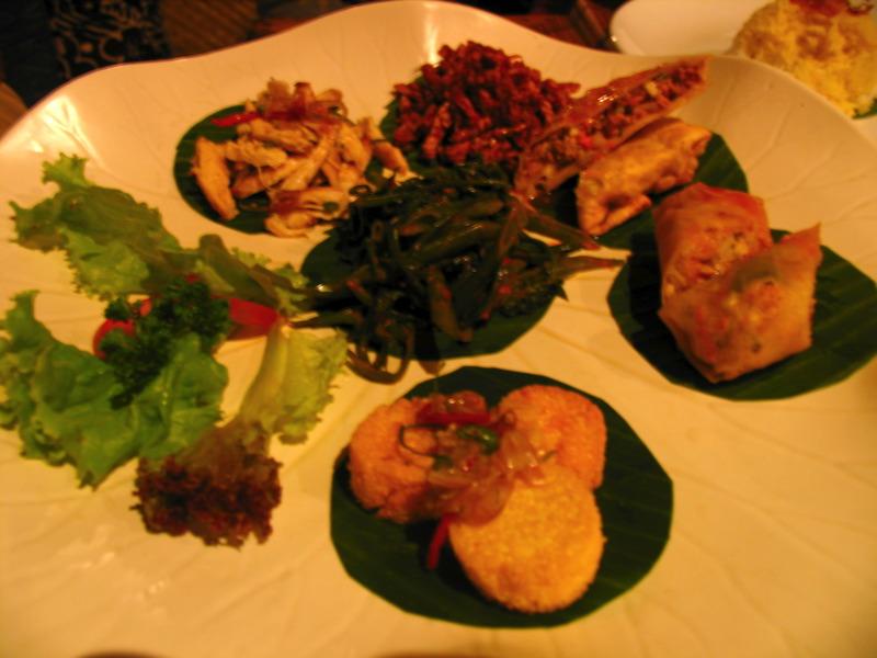 Balinese 'tapas' at Nomad, Ubud