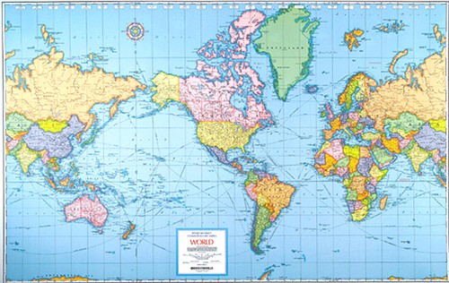 A confession beckycochrane yes there it is front and center the usa with canada a huge land mass above us greenland bigger than all of south america and australia tucked gumiabroncs Choice Image