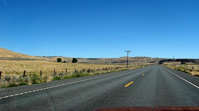 US20 Burns Oregon Long Road