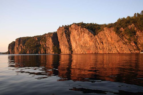 The Mazinaw Rock at Sunset