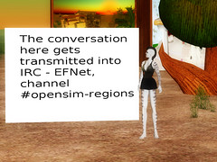OpenSim: main chat ft. IRC